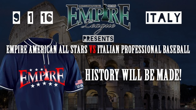 EMPIRE AMERICAN TEAM TO TAKE ON ITALY