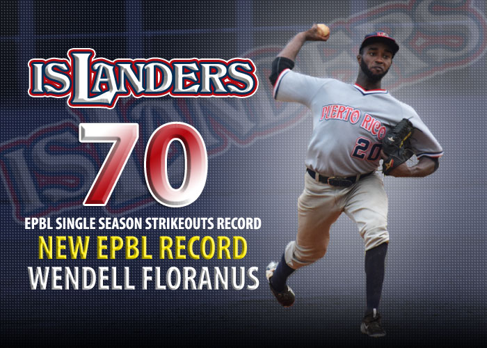 WENDELL FLORANUS BREAKS EMPIRE LEAGUE SINGLE SEASON STRIKEOUT RECORD