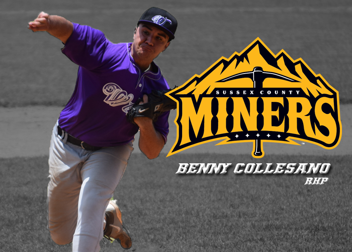 BENNY COLLESANO SELECTED BY SUSSEX COUNTY MINERS OF THE CANAM LEAGUE