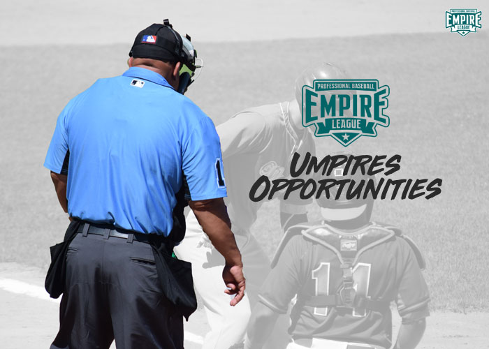 MAKE THE CALL, UMPIRE OPPORTUNITY IN PRO BASEBALL