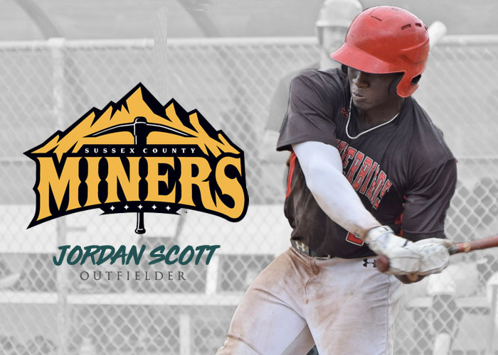 MVP JORDAN SCOTT MOVED TO SUSSEX COUNTY MINERS OF THE CANAM LEAGUE