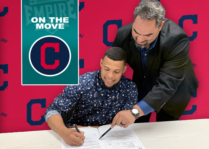 2020 EBL TOP PROSPECT SIGNS WITH CLEVELAND INDIANS